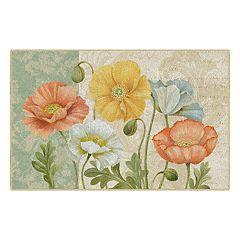 Brumlow Mills Pastel Poppies Printed Rug
