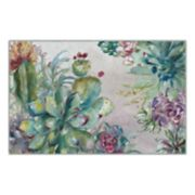 Brumlow Mills Succulent Garden Floral Printed Rug