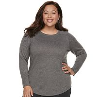 Deals on Apt. 9 Metallic Crewneck Plus Size Sweater