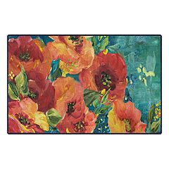 Brumlow Mills Rainbow Garden Landscape Floral Printed Rug