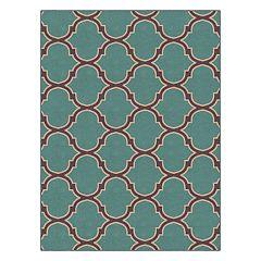 Brumlow Mills Two-Toned Moroccan Trellis Printed Rug