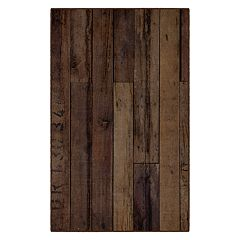 Brumlow Mills Farmhouse Antique Wooden Printed Rug