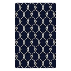 Brumlow Mills Nautical Rope Trellis Printed Rug