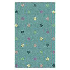 Brumlow Mills Pastel Polka Dots Printed Rug
