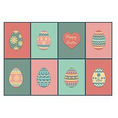 Brumlow Mills Pastel Easter Egg Printed Rug