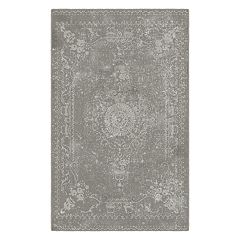 Brumlow Mills Distressed Persian Printed Rug