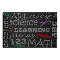 Brumlow Mills School Chalkboard Printed Rug
