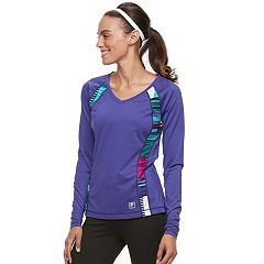 Women's FILA SPORT® Basic V-Neck Long Sleeve Tee