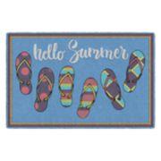 Brumlow Mills Hello Summer Flip-Flop Printed Rug