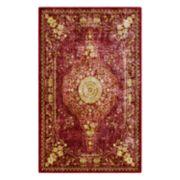 Brumlow Mills Traditional Distressed Persian Printed Rug