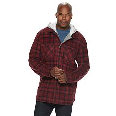 Men's Anchorage Expedition Classic-Fit Plaid Fleece Hooded Shirt Jacket