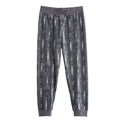 Girls 7-16 & Plus Size Mudd® Ribbed Waist Patterned Jogger Pants