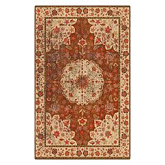 Brumlow Mills Distressed Traditional Floral Printed Rug