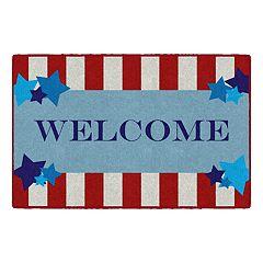 Brumlow Mills Star Spangled Welcome Printed Rug
