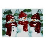 St. Nicholas Square® Farmhouse Snowman Bath Rug