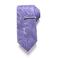 Men's Apt. 9® Patterned Tie with Tie Bar