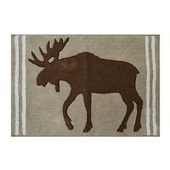 St. Nicholas Square® Through The Woods Moose Rug