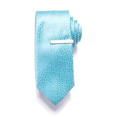Men's Apt. 9® Patterned Skinny Tie with Tie Bar