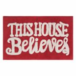 St. Nicholas Square® Holiday Cheer Believe Bath Rug
