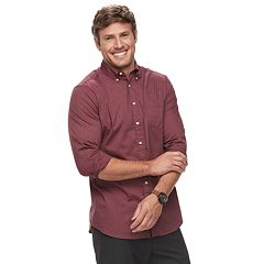 Big & Tall SONOMA Goods for Life™ Flexwear Poplin Button-Down Shirt