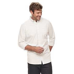 Big & Tall SONOMA Goods for Life™ Flexwear Modern-Fit Poplin Button-Down Shirt