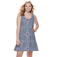 a942ac7a49a Juniors  Plus Size Mudd® Cross Back Sueded Jersey Dress