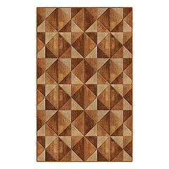 Brumlow Mills Wood Diamonds Geometric Printed Rug