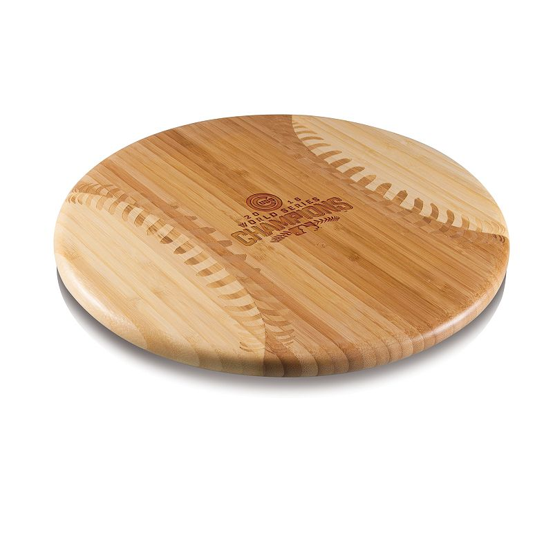 Picnic Time Chicago Cubs 2016 World Series Champions Wooden Cutting Board. Brown