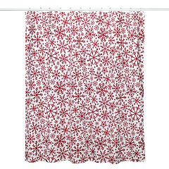 St Nicholas SquareR Holiday Cheer Snowflakes Shower Curtain