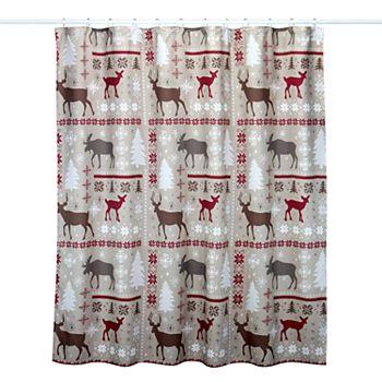 St Nicholas SquareR Through The Woods Patchwork Shower Curtain