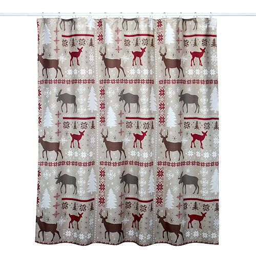 St Nicholas SquareR Through The Woods Patchwork Shower Curtain