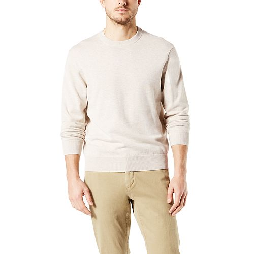 Men's Dockers® Classic-Fit Solid Heathered Crewneck Sweater