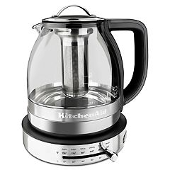 KitchenAid KEK1322SS 1.5-Liter Electric Glass Tea Kettle