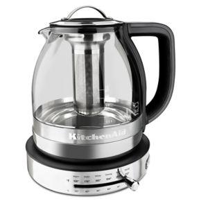KitchenAid KEK1322SS 1.5-Liter Electric Glass Tea Kettle