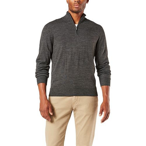 Men's Dockers® Classic-Fit Marled Quarter-Zip Sweater