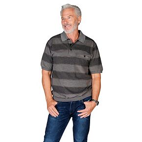 Men's Safe Harbor Regular-Fit Jacquard Banded-Bottom Polo
