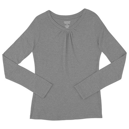 5292c02bf4a Girls 7-16   Plus Size French Toast Long Sleeve V-Neck Tee