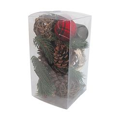 SONOMA Goods for Life™ Rustic Plaid & Pine Cone Vase Filler 28-piece Set