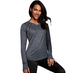 Women's Maidenform Sport Base Layer Thumb Hole Top