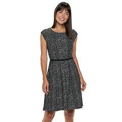 Women's ELLE™ Seamed Fit & Flare Dress