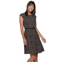 Women's ELLE™ Seamed Fit & Flare Dress
