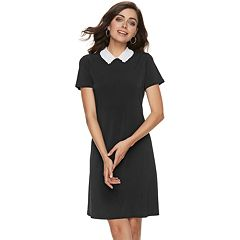 Women's ELLE™ Embroidered Collar Sheath Dress