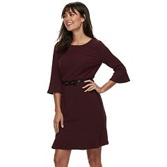 Women's ELLE™ Flounce-Hem Dress