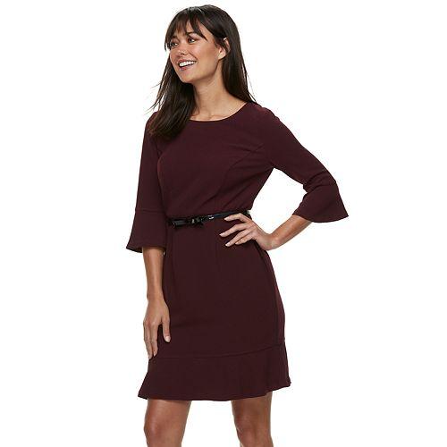 Women's ELLE™ Flounce-Hem Dress