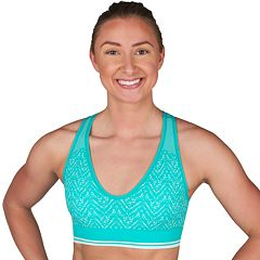 Jockey Sport Bras: Chevron Jacquard Medium-Impact Sports Bra 9406