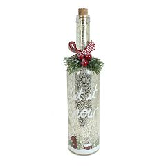 St. Nicholas Square® Light-Up Wine Bottle Christmas Table Decor