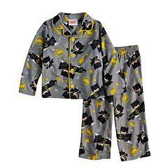 Toddler Boy Justice League Batman Top & Bottoms Pajama Set