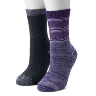 Women's Columbia 2-Pack Diamond Spacedye Crew Socks