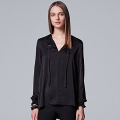 Women's Simply Vera Vera Wang Textured Satin Top