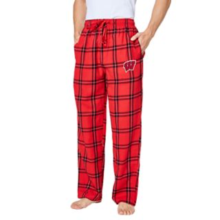 Men's Wisconsin Badgers Home Stretch Flannel Pajama Pants